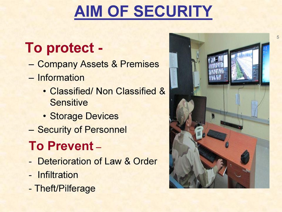 Storage Devices Security of Personnel 5 To Prevent -