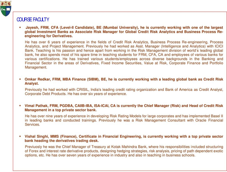 FINANCIAL RISK MANAGER (FRM ) TRAINING - PDF
