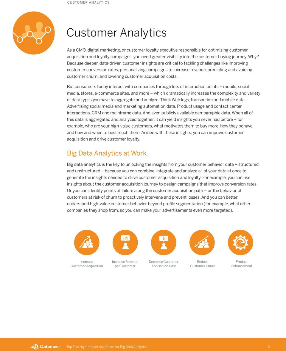 Because deeper, data-driven customer insights are critical to tackling challenges like improving customer conversion rates, personalizing campaigns to increase revenue, predicting and avoiding