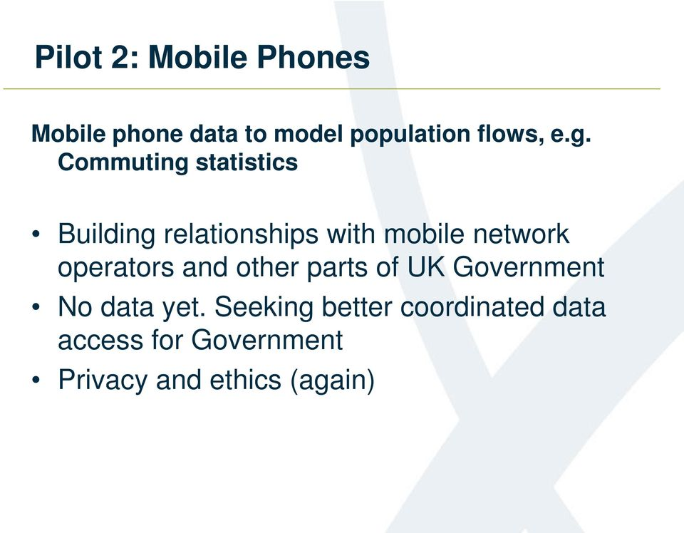 operators and other parts of UK Government No data yet.