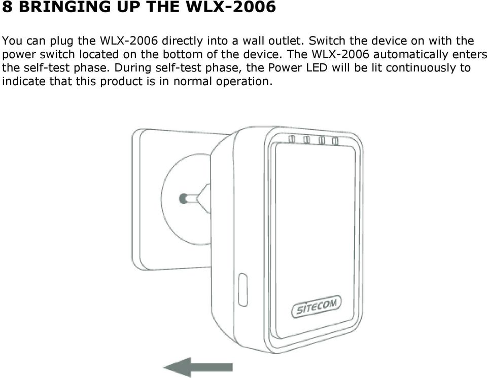 The WLX-2006 automatically enters the self-test phase.