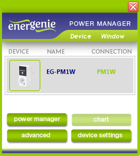 Figure # 10 6.1. Managing EG-PM1W-001 Install the Power Manager software and follow the instructions in section 3.