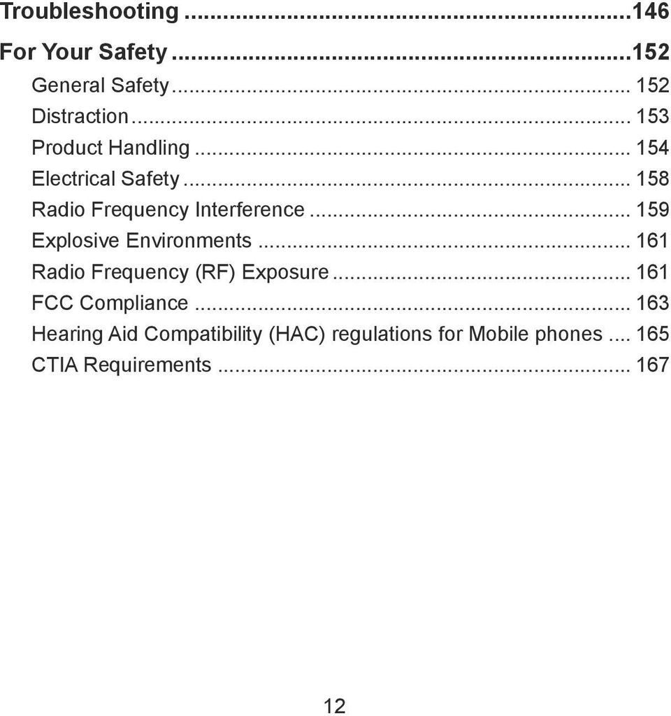 .. 159 Explosive Environments... 161 Radio Frequency (RF) Exposure... 161 FCC Compliance.