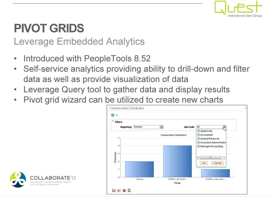 as well as provide visualization of data Leverage Query tool to gather