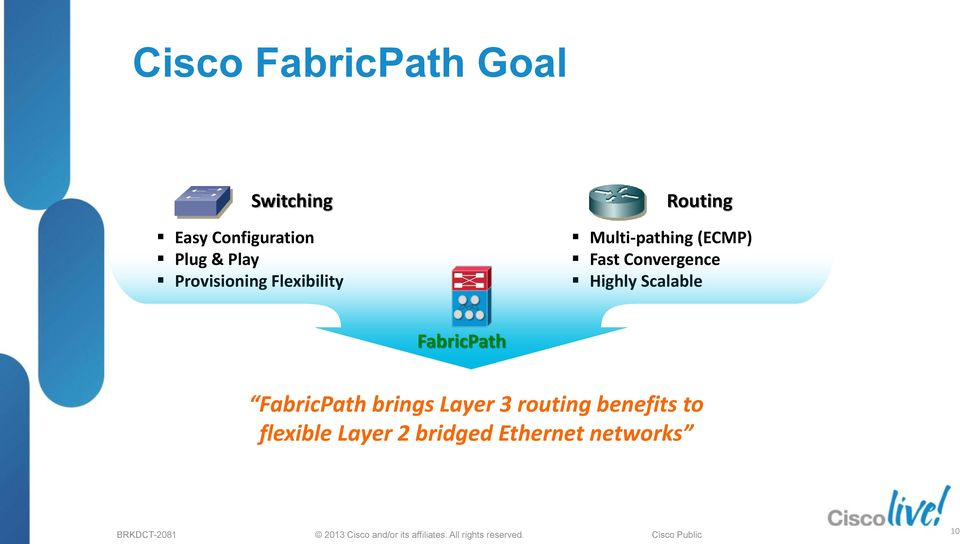 Fast Convergence Highly Scalable brings Layer 3