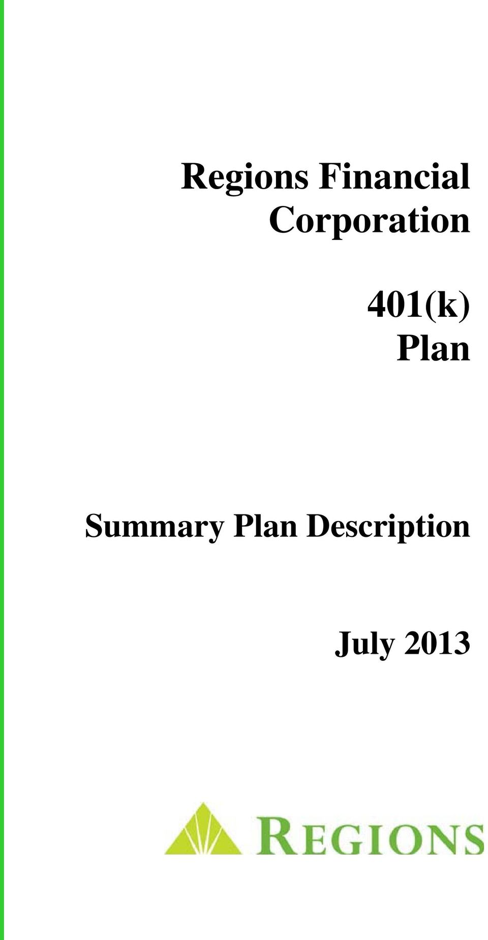 Plan Summary Plan