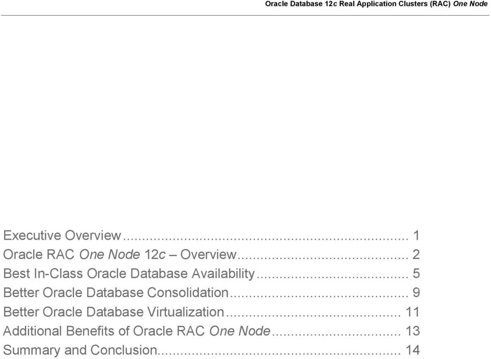 .. 5 Better Oracle Database Consolidation.