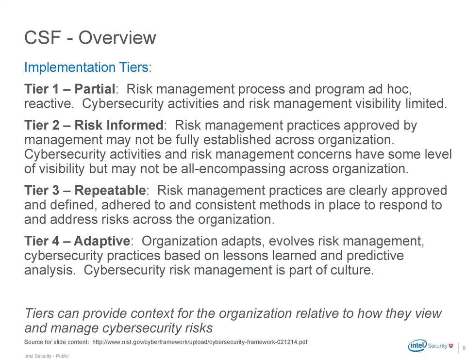 Cybersecurity activities and risk management concerns have some level of visibility but may not be all-encompassing across organization.