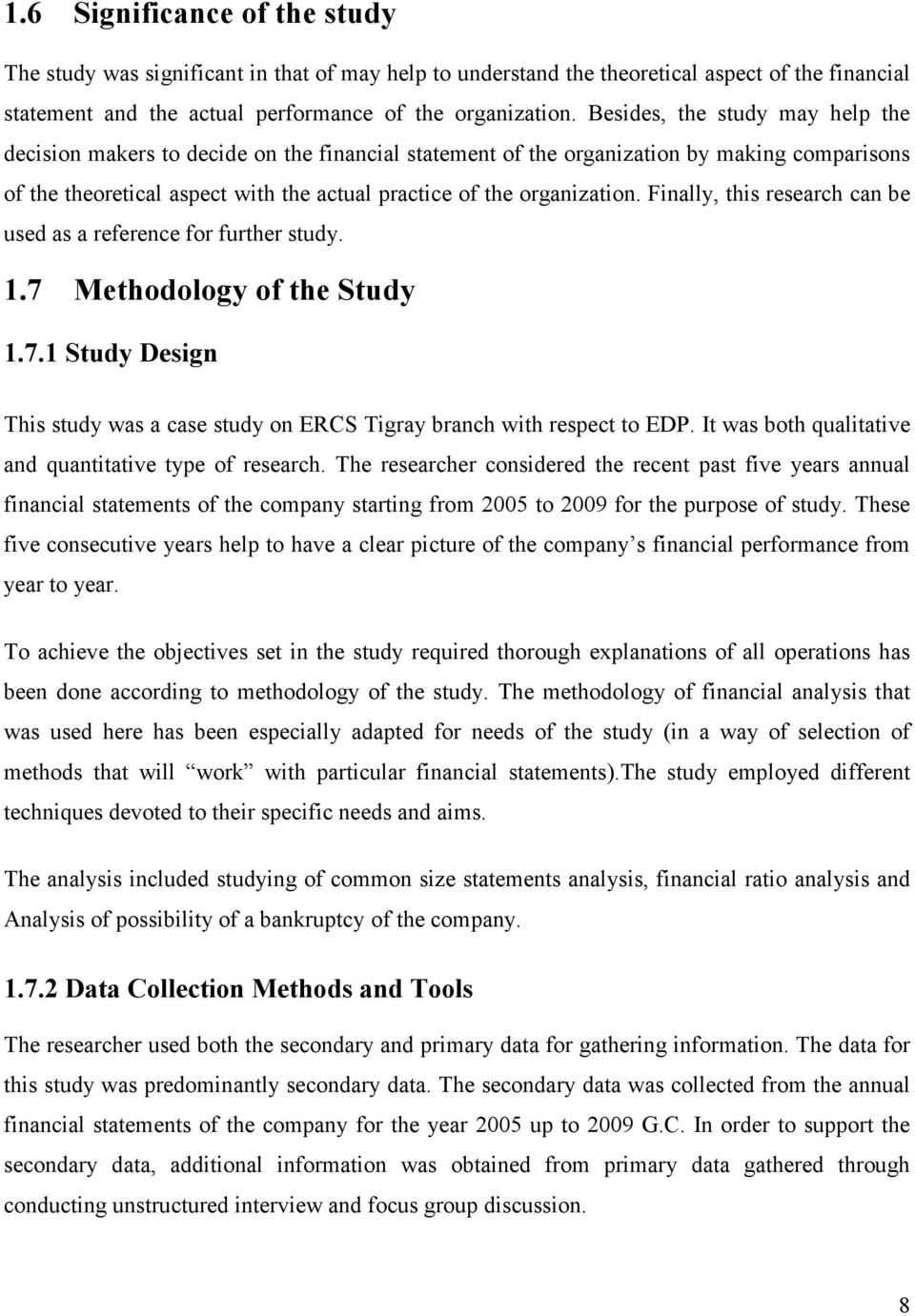 financial statement analysis case study solution