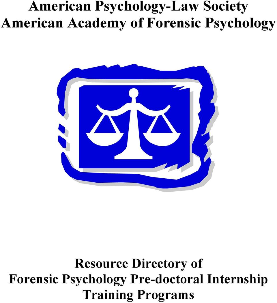 Psychology Resource Directory of