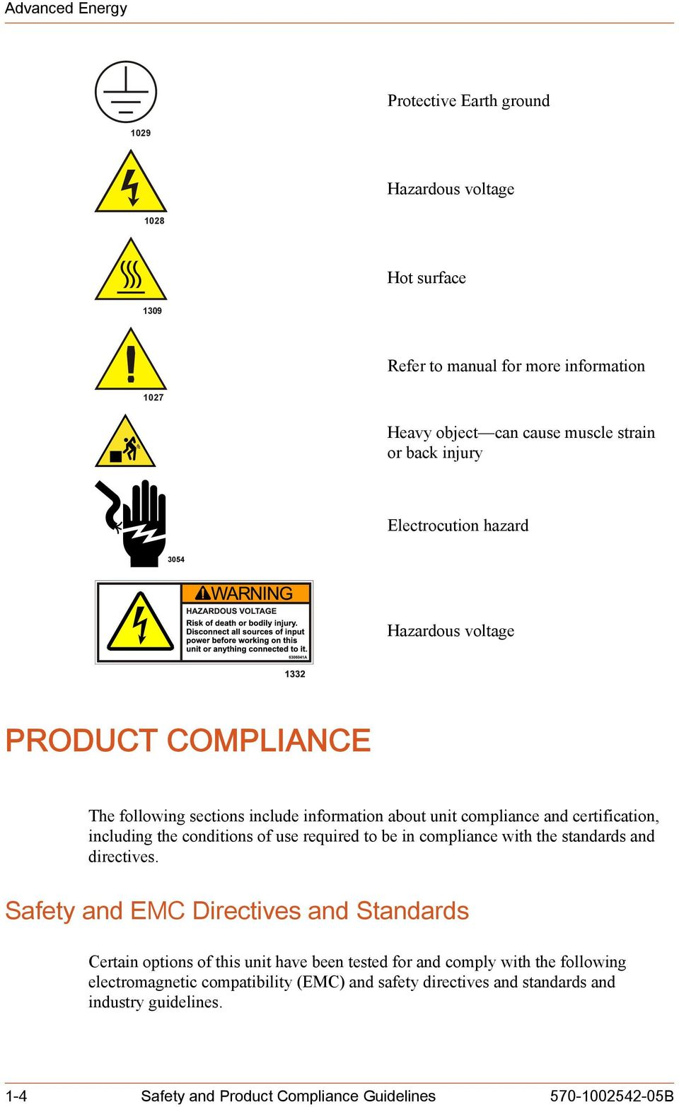 conditions of use required to be in compliance with the standards and directives.