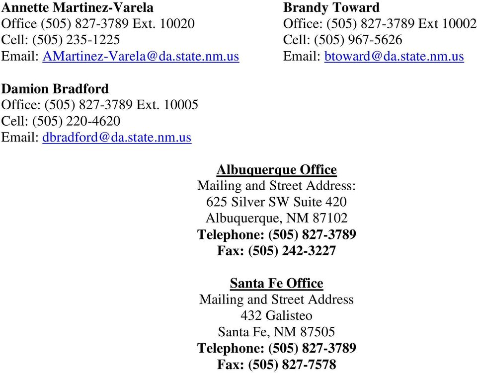 New mexico district attorneys directory pdf Motor vehicle department albuquerque new mexico