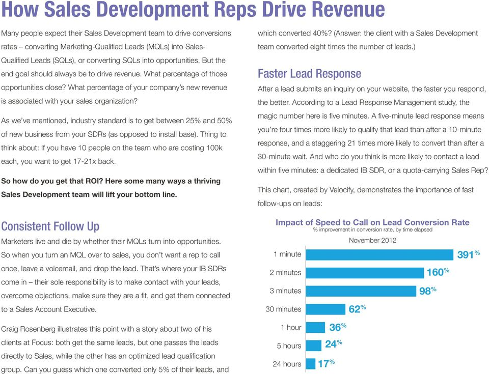 What percentage of your company s new revenue is associated with your sales organization?