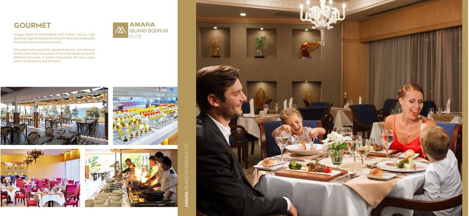 The award-winning chefs, excellent service, the fabulous buffet at the main restaurant, 6 A la