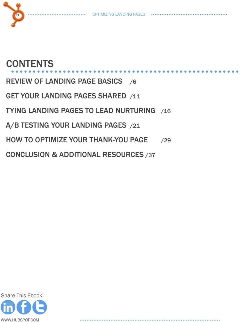 nurturing /16 a/b testing your landing pages /21 how to