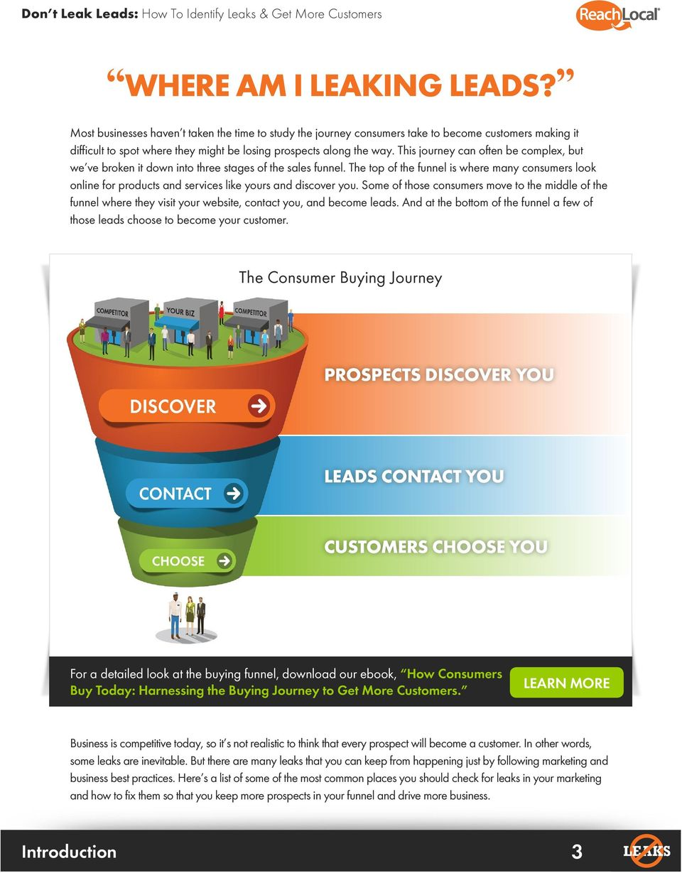 The top of the funnel is where many consumers look online for products and services like yours and discover you.