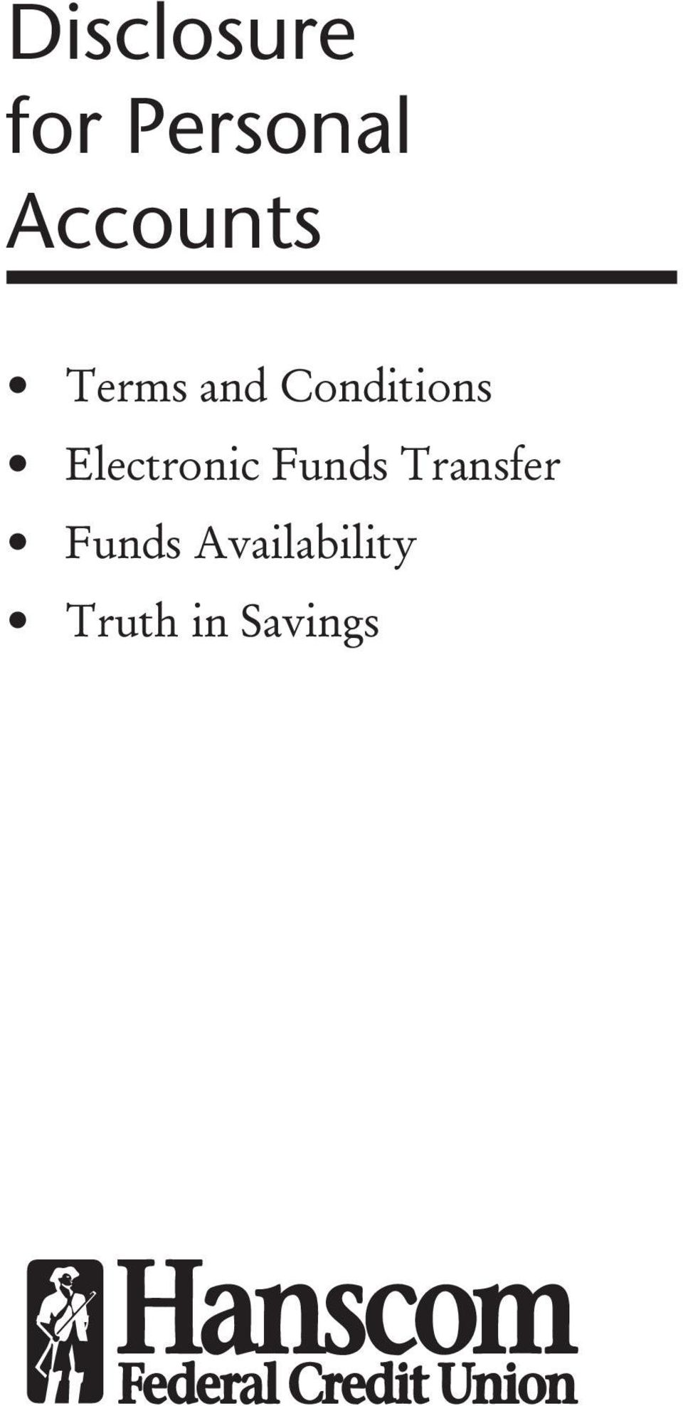 Conditions Electronic Funds
