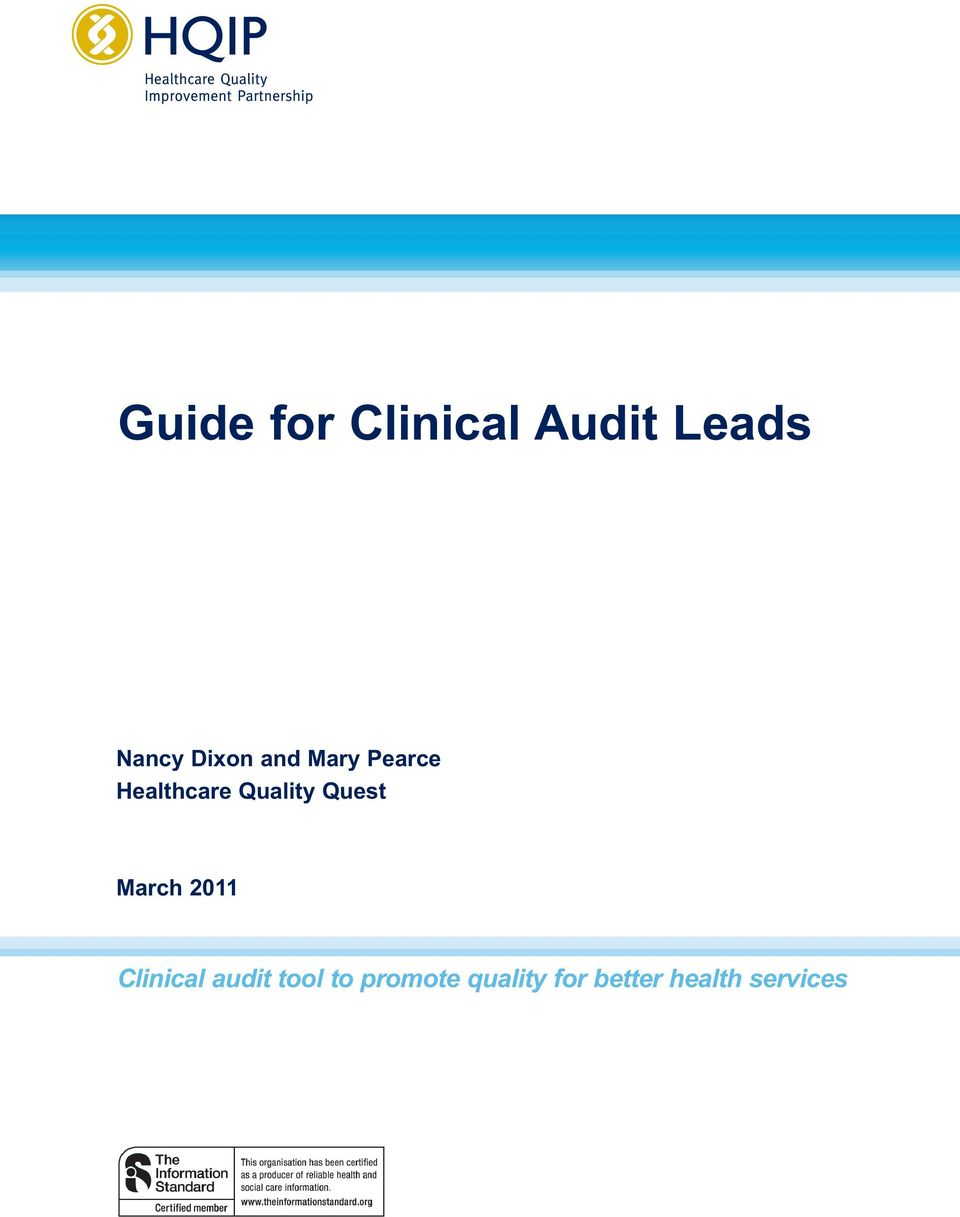 Quality Quest March 2011 Clinical audit