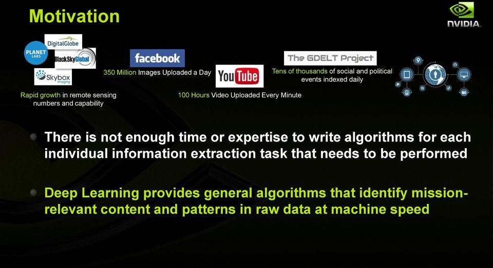 expertise to write algorithms for each individual information extraction task that needs to be performed Deep