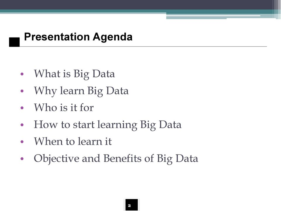 to start learning Big Data When to