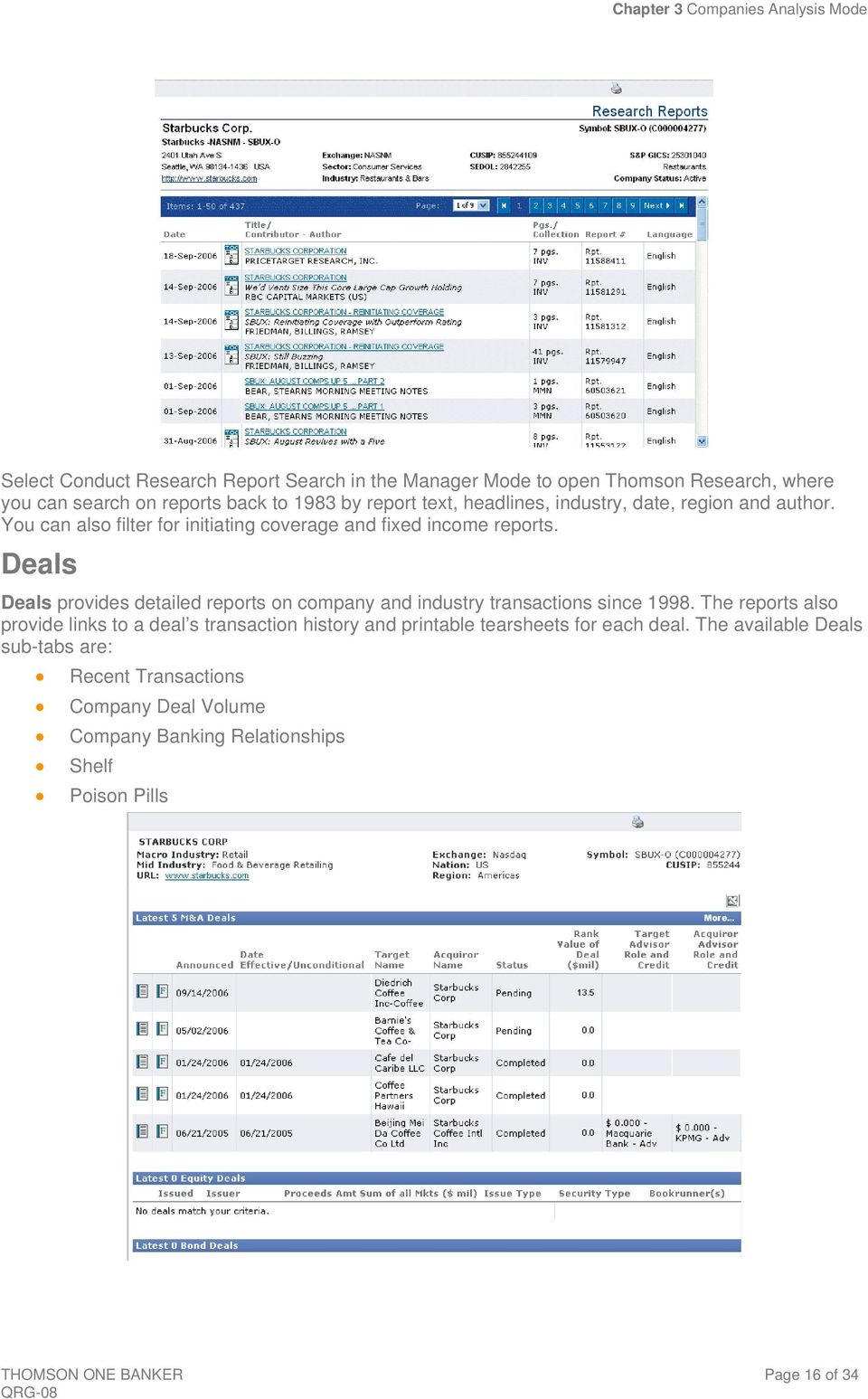 Deals Deals provides detailed reports on company and industry transactions since 1998.
