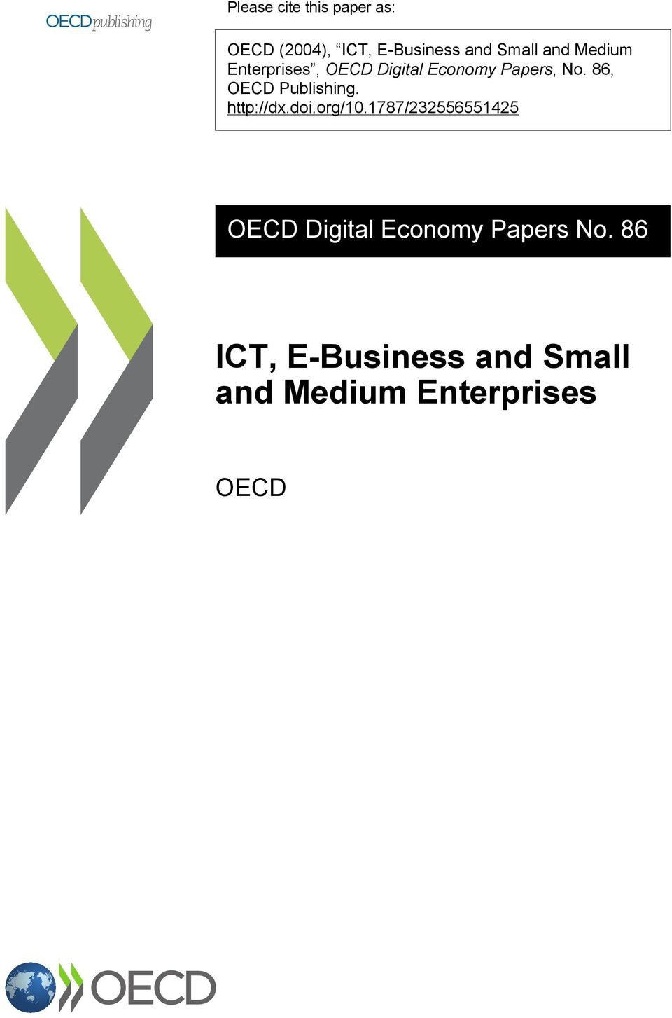 86, OECD Publishing. http://dx.doi.org/10.