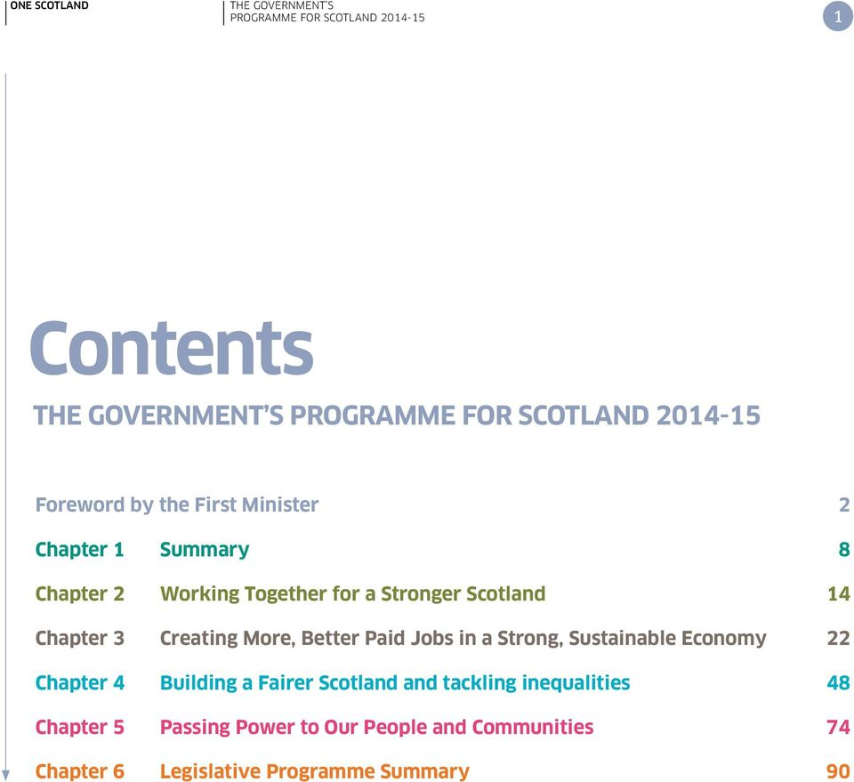 Strong, Sustainable Economy 22 Chapter 4 Building a Fairer Scotland and tackling inequalities
