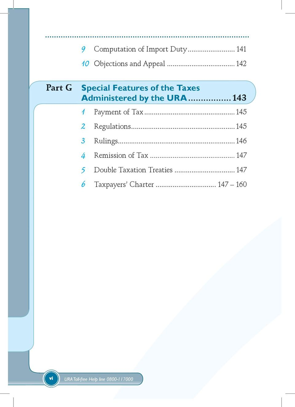 ..143 1 Payment of Tax...145 2 Regulations...145 3 Rulings.