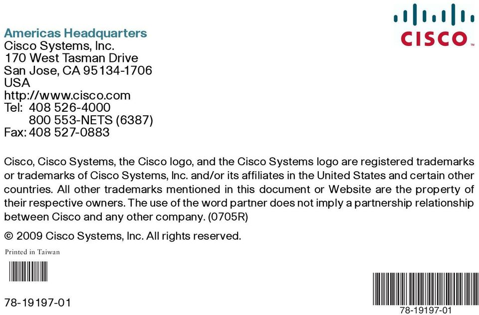 Cisco Systems, Inc. and/or its affiliates in the United States and certain other countries.