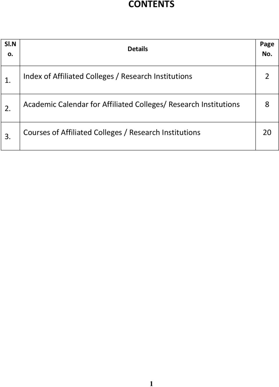 2. Academic Calendar for Affiliated Colleges/ Research