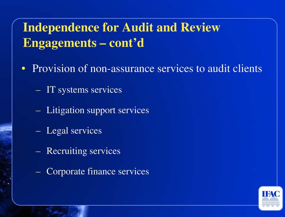 IT systems services Litigation support services Legal
