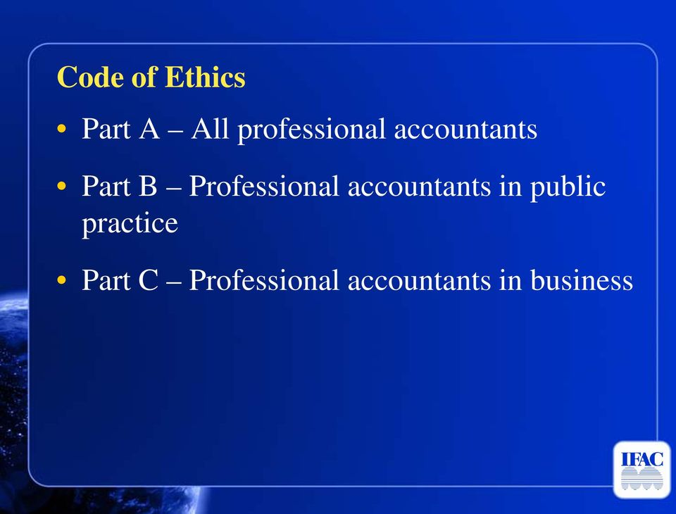 Professional accountants in public