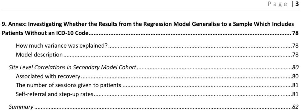 Includes Patients Without an ICD-10 Code... 78 How much variance was explained?... 78 Model description.