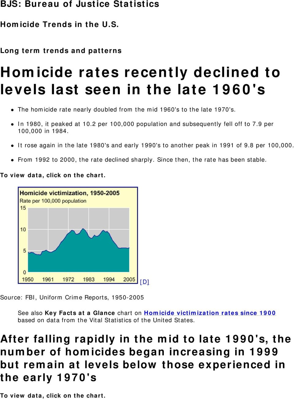From 1992 to 2000, the rate declined sharply. Since then, the rate has been stable. To view data, click on the chart.