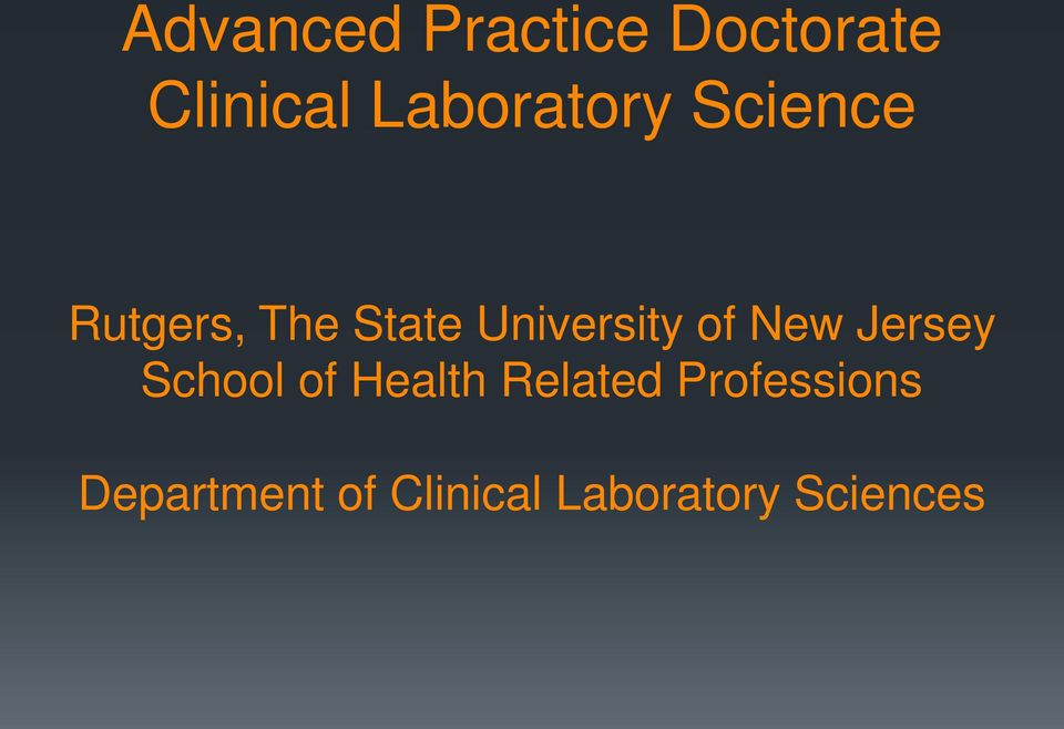 Rutgers online phd health sciences