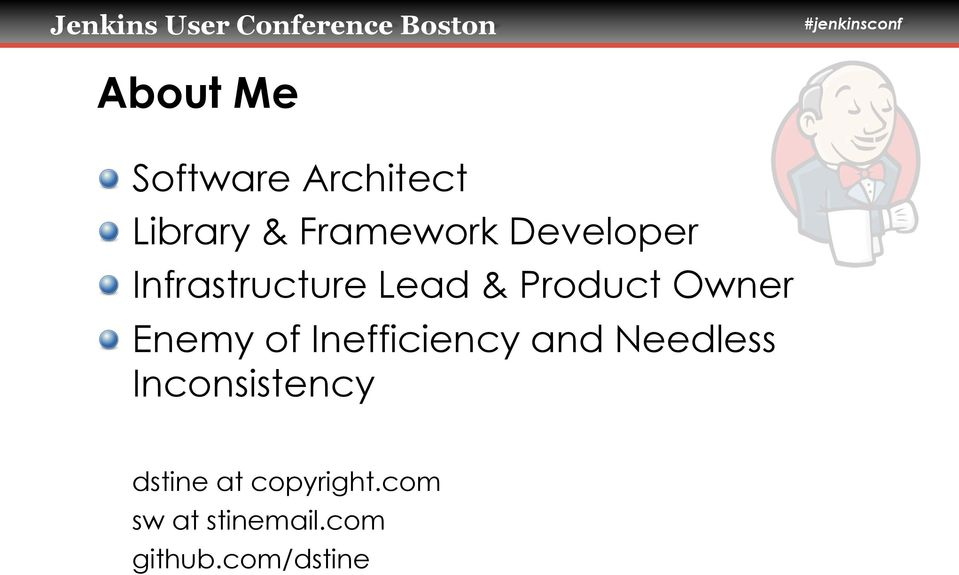Infrastructure Lead & Product Owner!