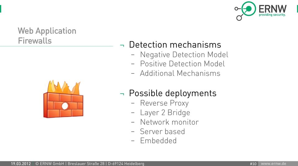 Application Firewalls Detection mechanisms - Negative Detection Model -
