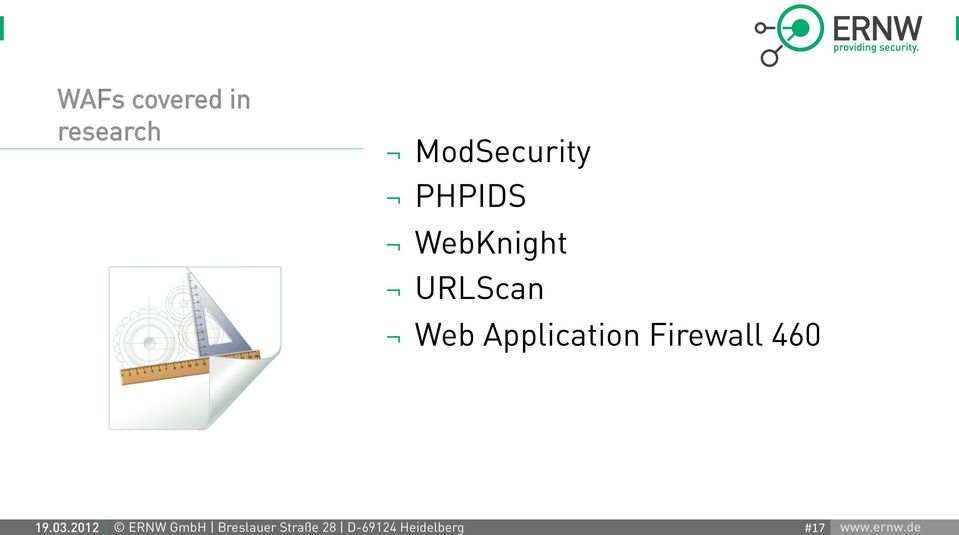 Application Firewall 460 19.03.