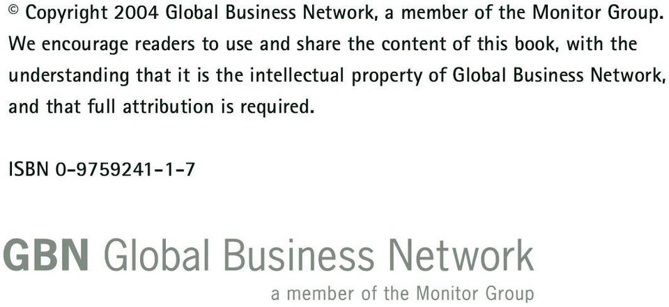 the understanding that it is the intellectual property of Global