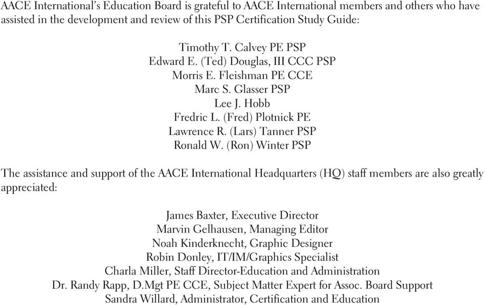 PSP Certification Study Guide 1st Edition Revised CD Planning ...
