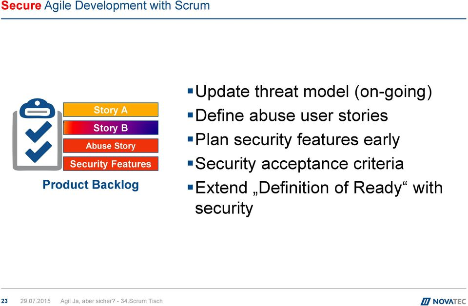(on-going) Define abuse user stories Plan security features