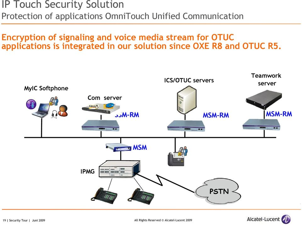 is integrated in our solution since OXE R8 and OTUC R5.