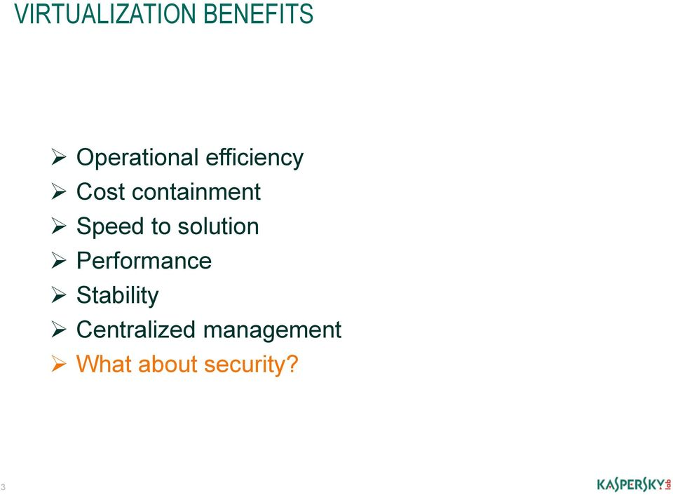 solution Performance Stability