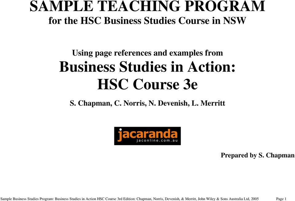 Sample teaching program for the hsc business studies course in nsw pdf merritt prepared by s fandeluxe Choice Image
