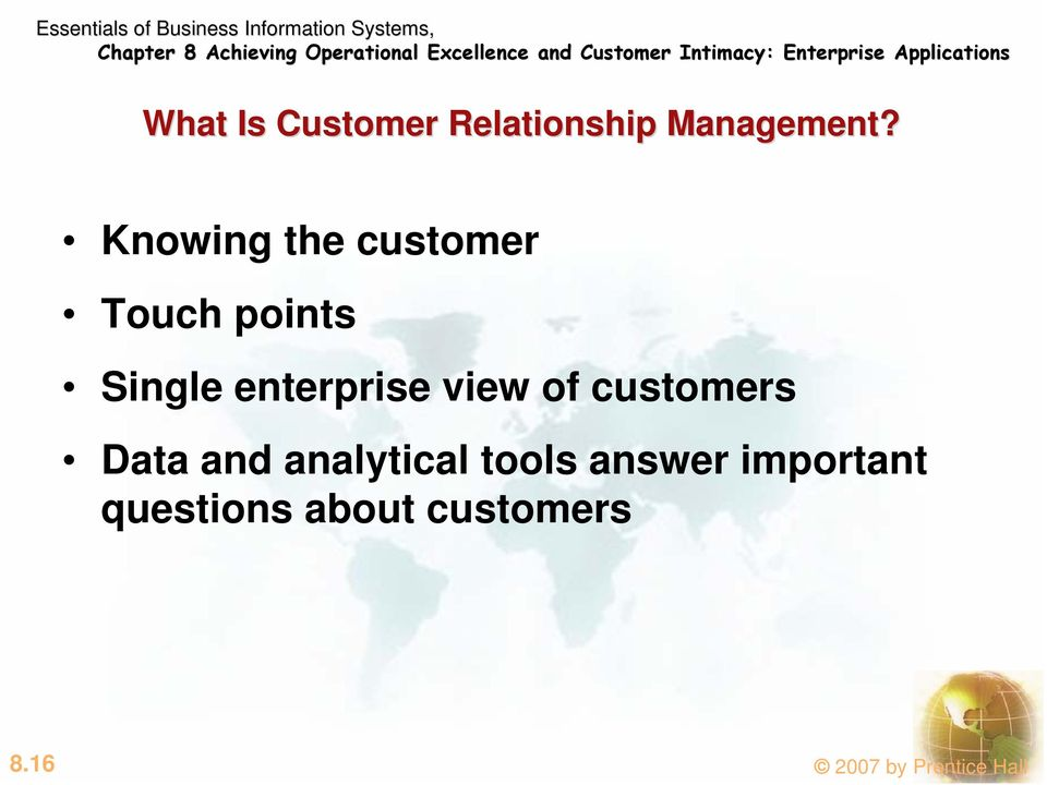 view of customers Data and analytical tools answer