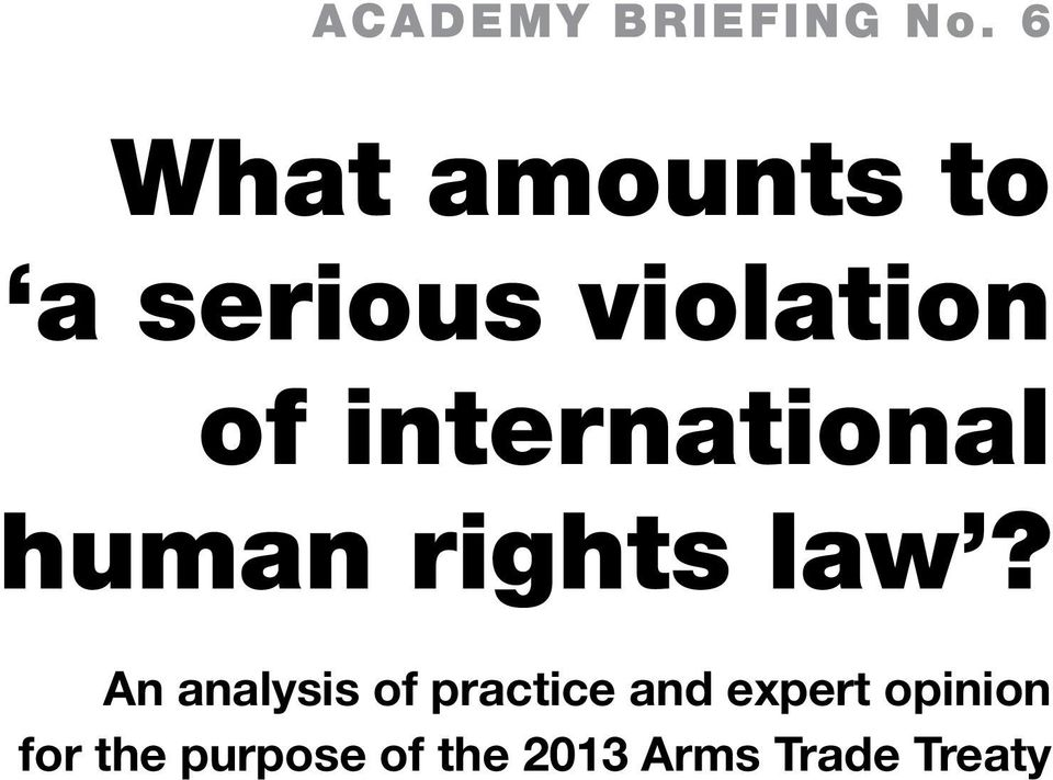 international human rights law?
