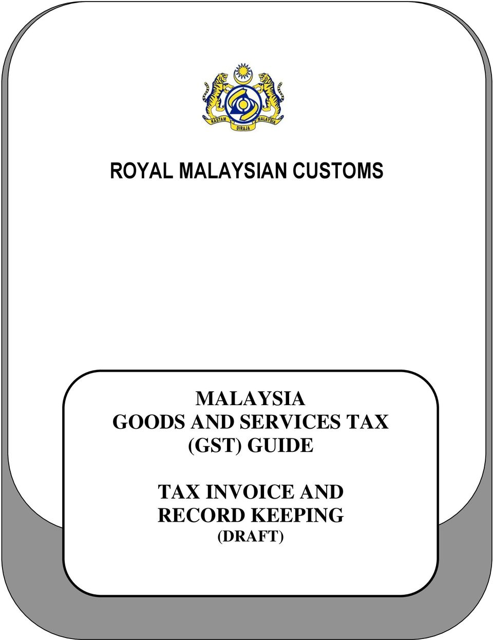 goods and services tax gst in malaysia In malaysia, the goods and services tax (gst) was implemented in 2015  in  fact, exempting essential medicines from tax is in line with the malaysian national.