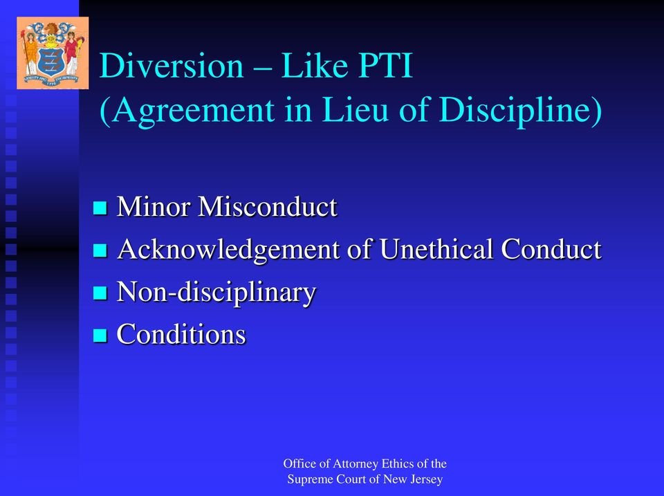 Misconduct Acknowledgement of