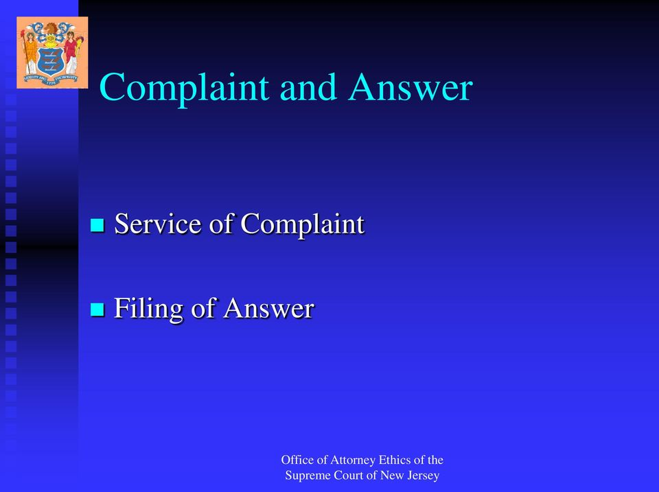 of Complaint