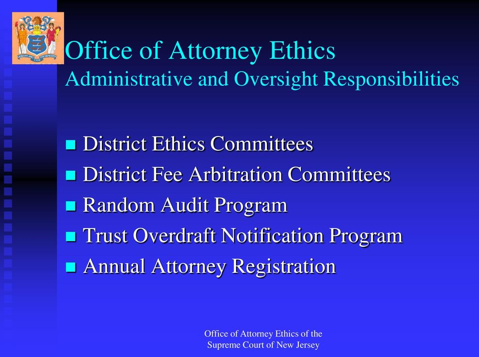 Fee Arbitration Committees Random Audit Program Trust